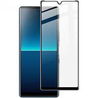 Защитное стекло LUX для Sony Xperia L4 Full Сover черный 0,3 мм в упаковке