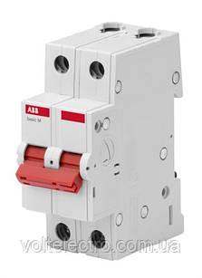 Выключатель нагрузки ABB 2P 40A (рубильник модульный) BMD51240