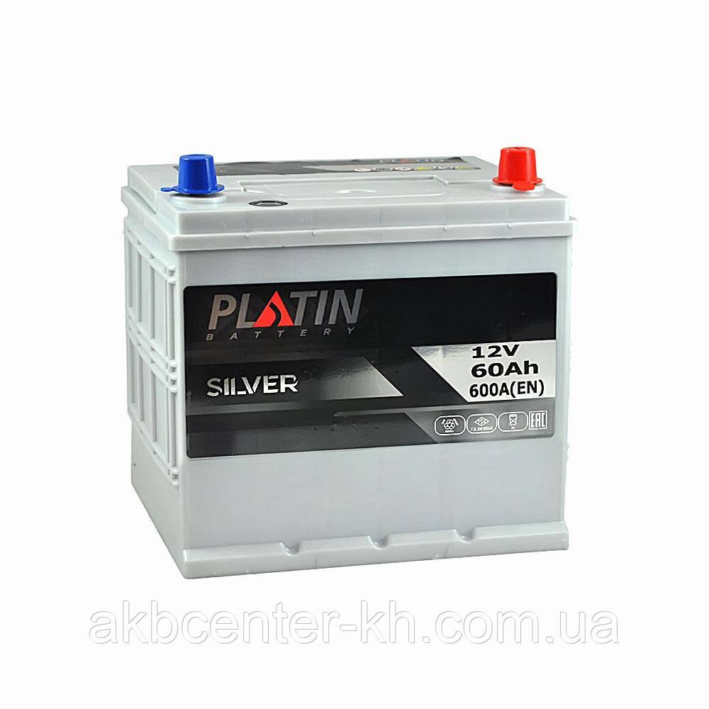 Автомобильный аккумулятор PLATIN Silver SMF JP 6CT 60Aз 600A R (h224)