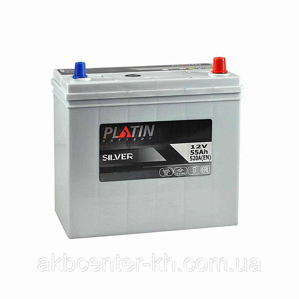 Автомобильный аккумулятор PLATIN Silver SMF JP 6CT 55Aз 520A R