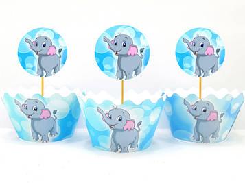 """""""Слонёнок"""" - Топперы+Капкейки"""