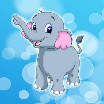 """""""Слонёнок"""" - Наклейка Сок 6,5*8,5 см."""