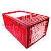 Большой ящик для перевозки индюков с верхней и боковой дверцами 96х57х42