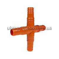 Крест под шланг 14-16 мм пластиковый, фото 1