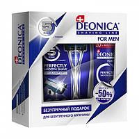 Подарочный набор DEONICA For men 5 (пена для бритья, 240 мл + станок для бритья)