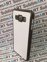 Чехол для 2D сублимации пластиковый на Samsung Galaxy A8 черный, фото 2