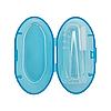 Прорізувач щітка на палець у футлярі (блакитна)