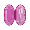 Прорезыватель щётка на палец в футляре (розовая)