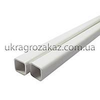 Труба ПВХ квадратная 22х22 мм Премиум (ТР-93) 2,5+мм, фото 1