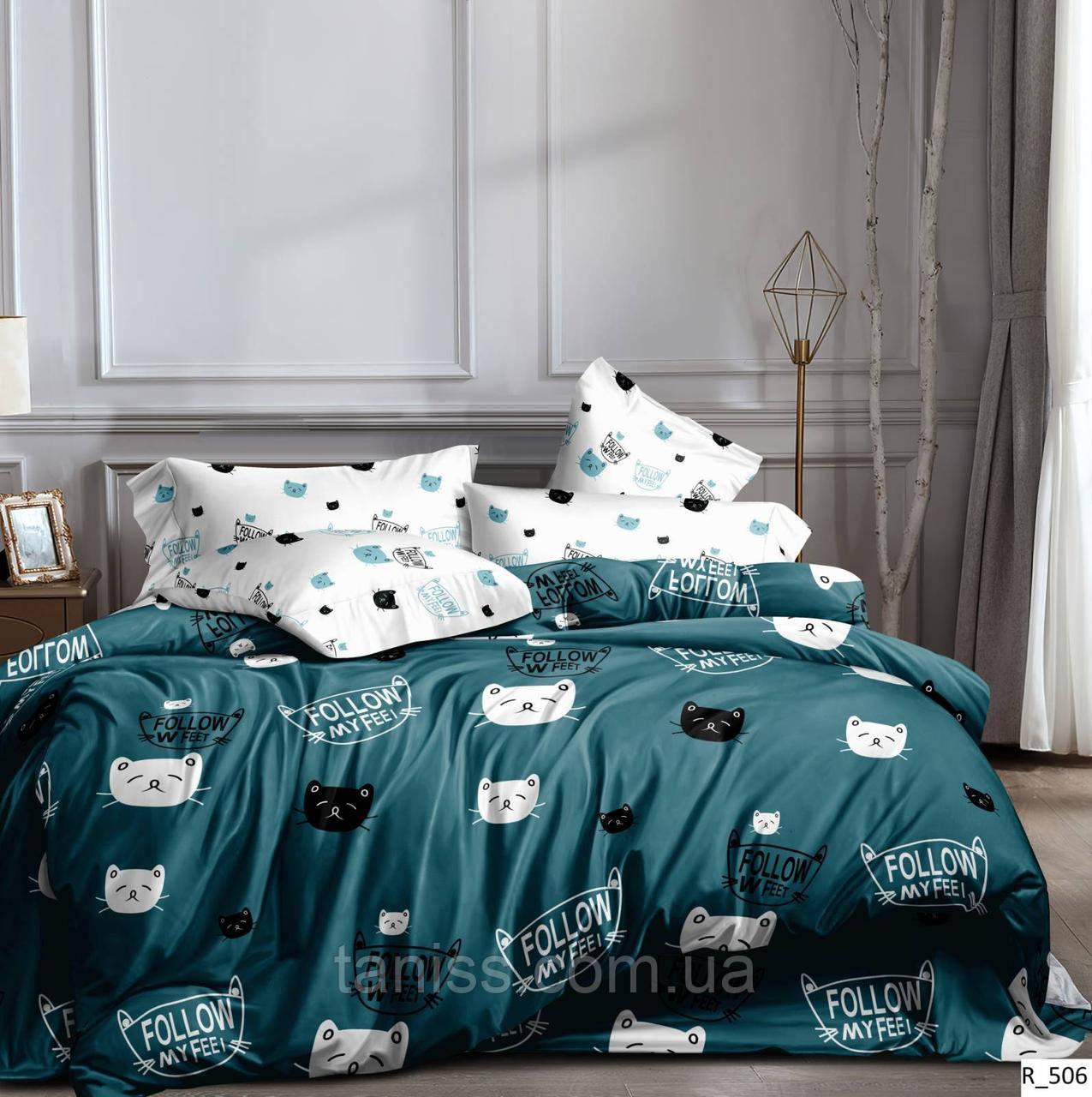 """Полуторный набор постельного белья """"ранфорс"""",  расцветка как на фото,кошечки"""