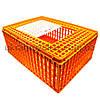 Маленький глубокий ящик для перевозки птицы с раздвижной верхней дверкой 77х57х32