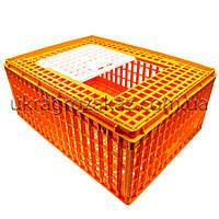 Маленький глубокий ящик для перевозки птицы с раздвижной верхней дверкой 77х57х32, фото 1