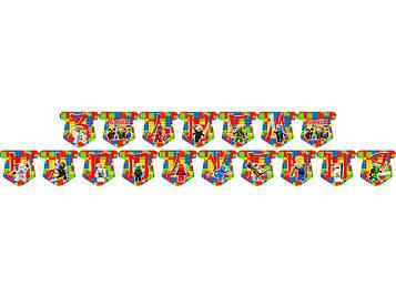 """""""Лего Ниндзяго: Красный"""" - Гирлянда Буквы длинна - 2.5м., УКР"""