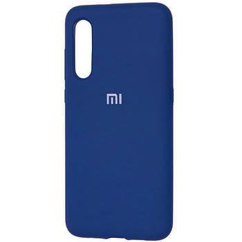 Чехол силиконовый Silicone Cover Full Protective (AA) для Xiaomi Mi 9 SE Оранжевый / Orange Синий / Navy Blue