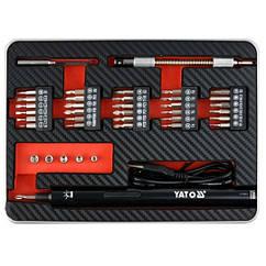 Аккумуляторная отвертка с набором бит YATO YT-27930