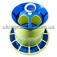 Бункерная кормушка 4,4 л / 3 кг непрозрачная для кур несушек, бройлеров, уток, гусей, индюков, перепелов, фото 1