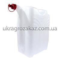 Канистра пластиковая с носиком 20л., фото 1