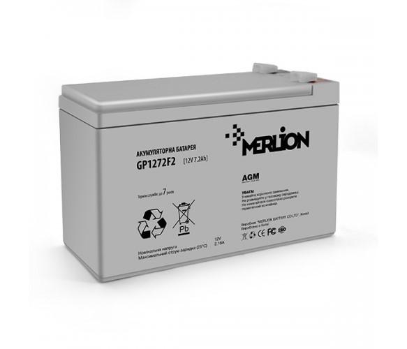 Аккумулятор AGM - 7.2 Ач, 12 В Гелевый Merlion GP1272F2 Q8 White