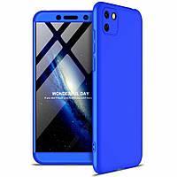 Чехол GKK 360 для Huawei Y5p бампер противоударный Blue