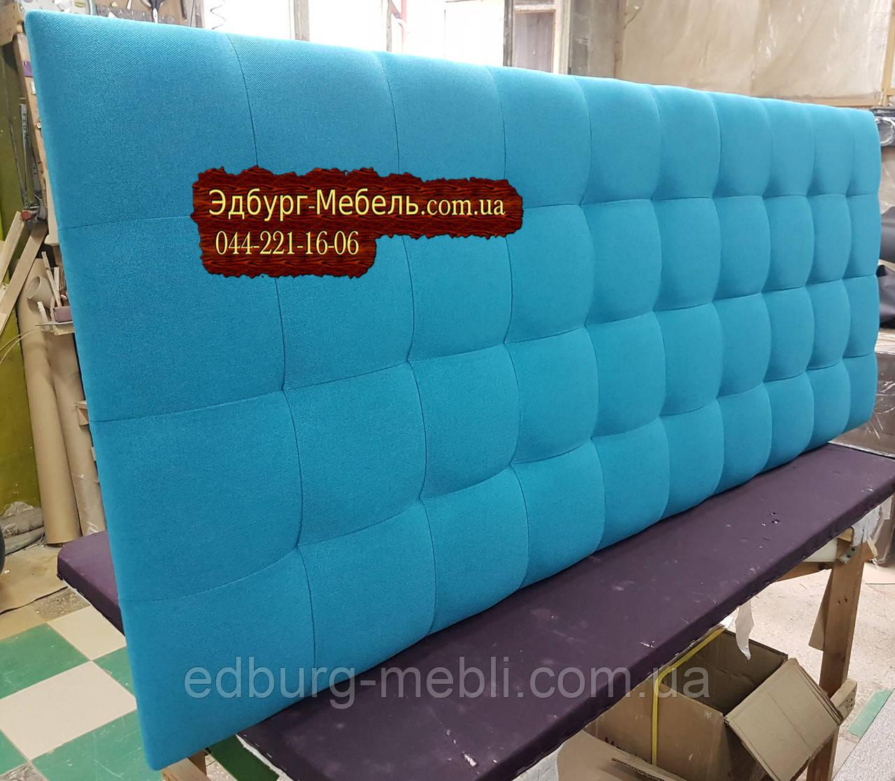 Стінова панель, узголів'я ліжка оксамит, велюр, рогожка або кожзам