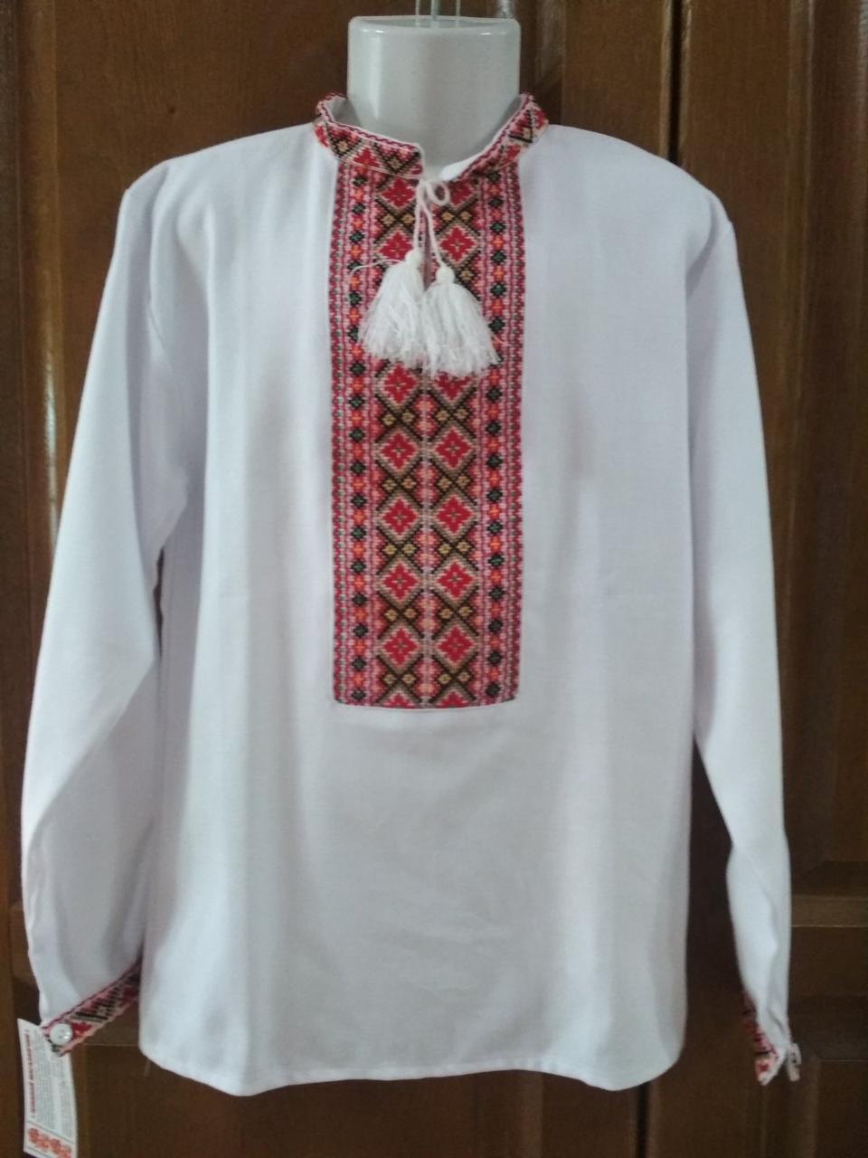 Сорочка на хлопця підлітка 33 розмір, вишита хрестиком ручної роботи