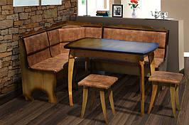 Комплект кухонный обеденный из натурального дерева Микс мебель Даллас (угол+стол+2 таб.)