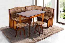 Комплект кухонный обеденный из натурального дерева Микс мебель Канзас (угол+стол+2 таб.)