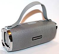 Портативная колонка bluetooth, USB, TF-card, AUX, громкая связь Hopestar H24 Grey с микрофоном