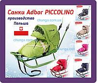 Санки Adbor Piccolino (Адбор Пикколино) з конвертом та капюшоном, фото 1
