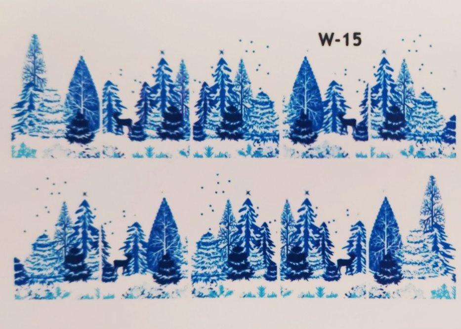 Водные наклейки (слайдер дизайн) Новогодний дизайн W-15