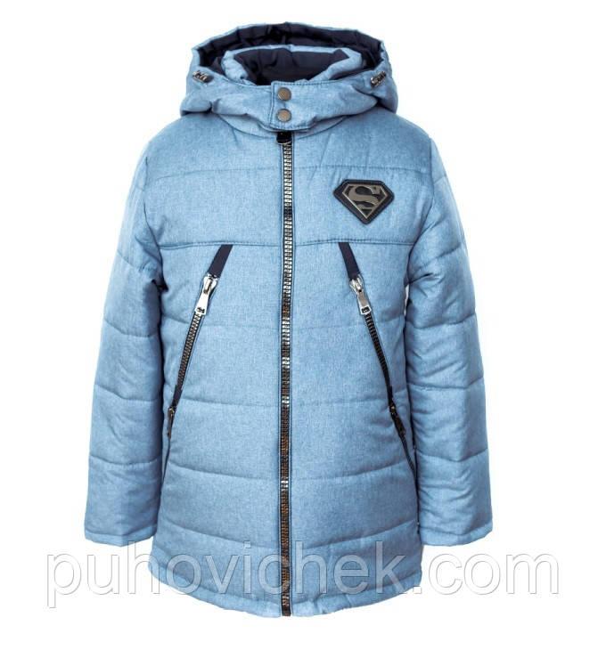 Модна зимова куртка для хлопчика підлітка подовжена 88