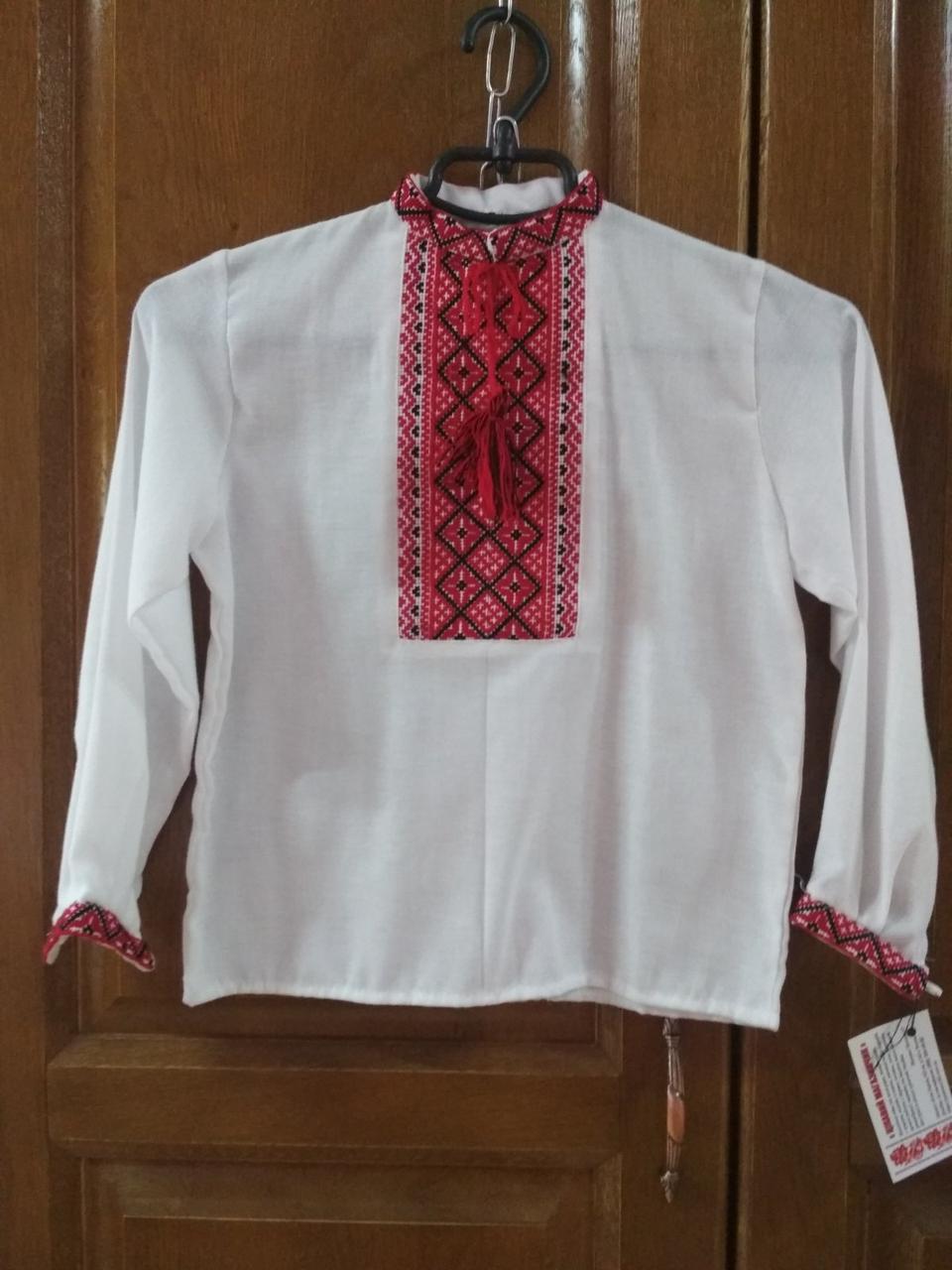 Сорочка на хлопчика на 5-6 років, вишита хрестиком ручної роботи