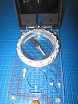 Компас жидкостный планшетный в закрытом корпусе с зеркалом, фото 3