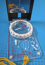 Компас жидкостный планшетный в закрытом корпусе с зеркалом, фото 2