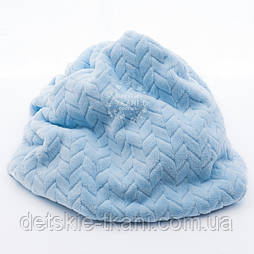 Плюш косичка голубого цвета, ширина 150 см