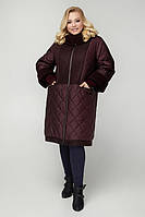 Зимнее комбинированное пальто больших размеров, цвета