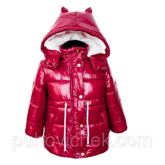Детские зимние куртки для девочек модные размеры 92-104