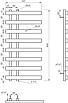Электрический полотенцесушитель Genesis-Aqua Split 100x53 см черный, фото 2