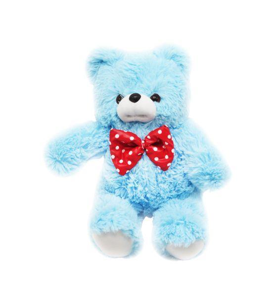 Мягкий плюшевый мишка Boxi Мишутка с бантиком 64 см голубой