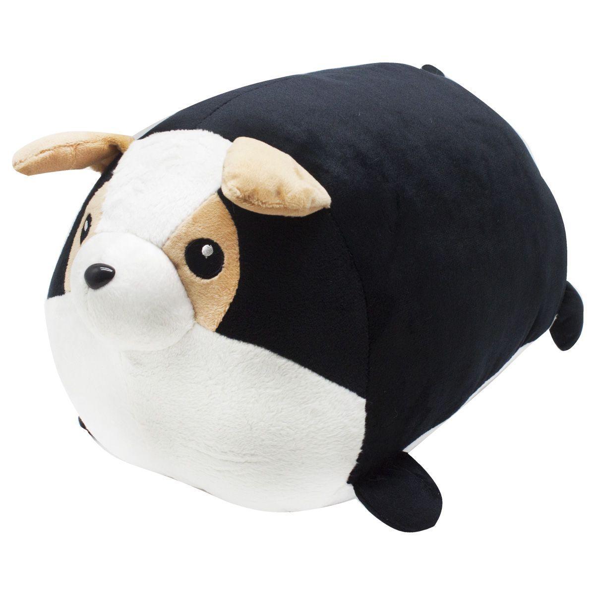 Плюшевая игрушка подушка валик Boxi Французский бульдог 45 см черный
