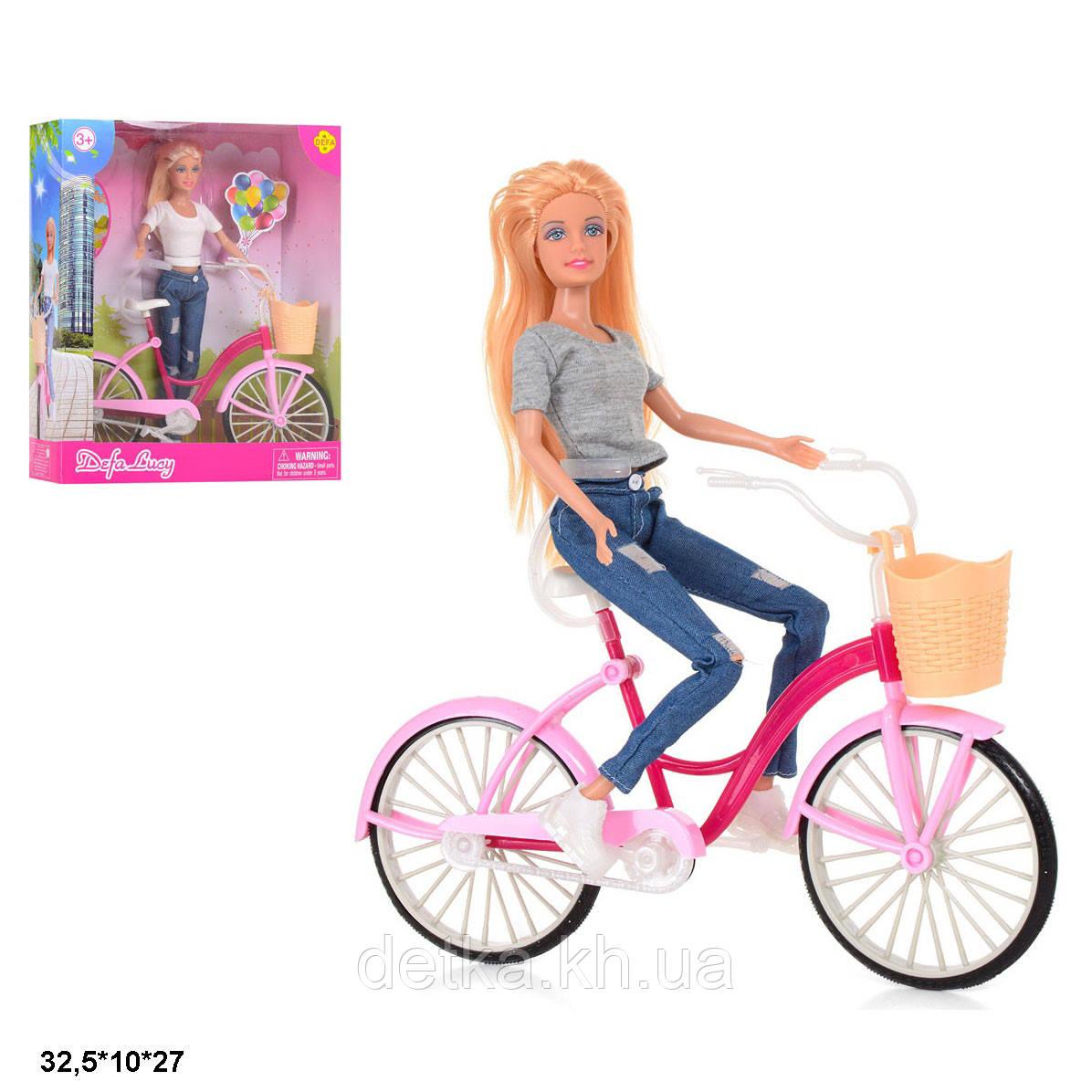 Кукла DEFA 29см с велосипедом