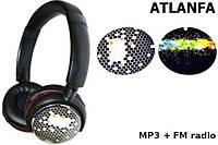 Беспроводные наушники ATLANFA AT-7603 + MP3 + FM Радио + слот под microSD!