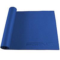 Коврик (мат) для йоги та фітнесу SportVida PVC 6 мм SV-HK0053 Blue