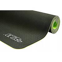 Коврик (мат) для йоги та фітнесу 4FIZJO TPE 6 мм 4FJ0032 Black/Green