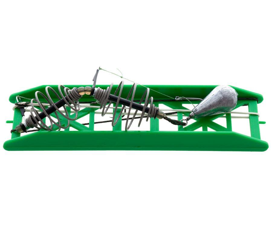 Оснастка карп-карась Flagman 2 кормушки 2 крючка №6 на лидкоре 40г