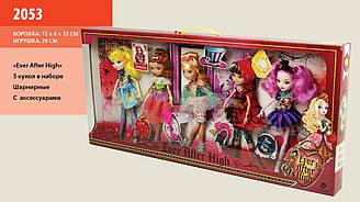 "Набор Кукол 2053 ""Ever After High"" 5 кукол, с акс., на шарнирах, в кор.72*6*33cм"