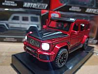 Игрушка машина модель Мерседес Бенц (Mercedes-Benz).Железные игрушечные машинки Гелендваген (Гелик) Красная
