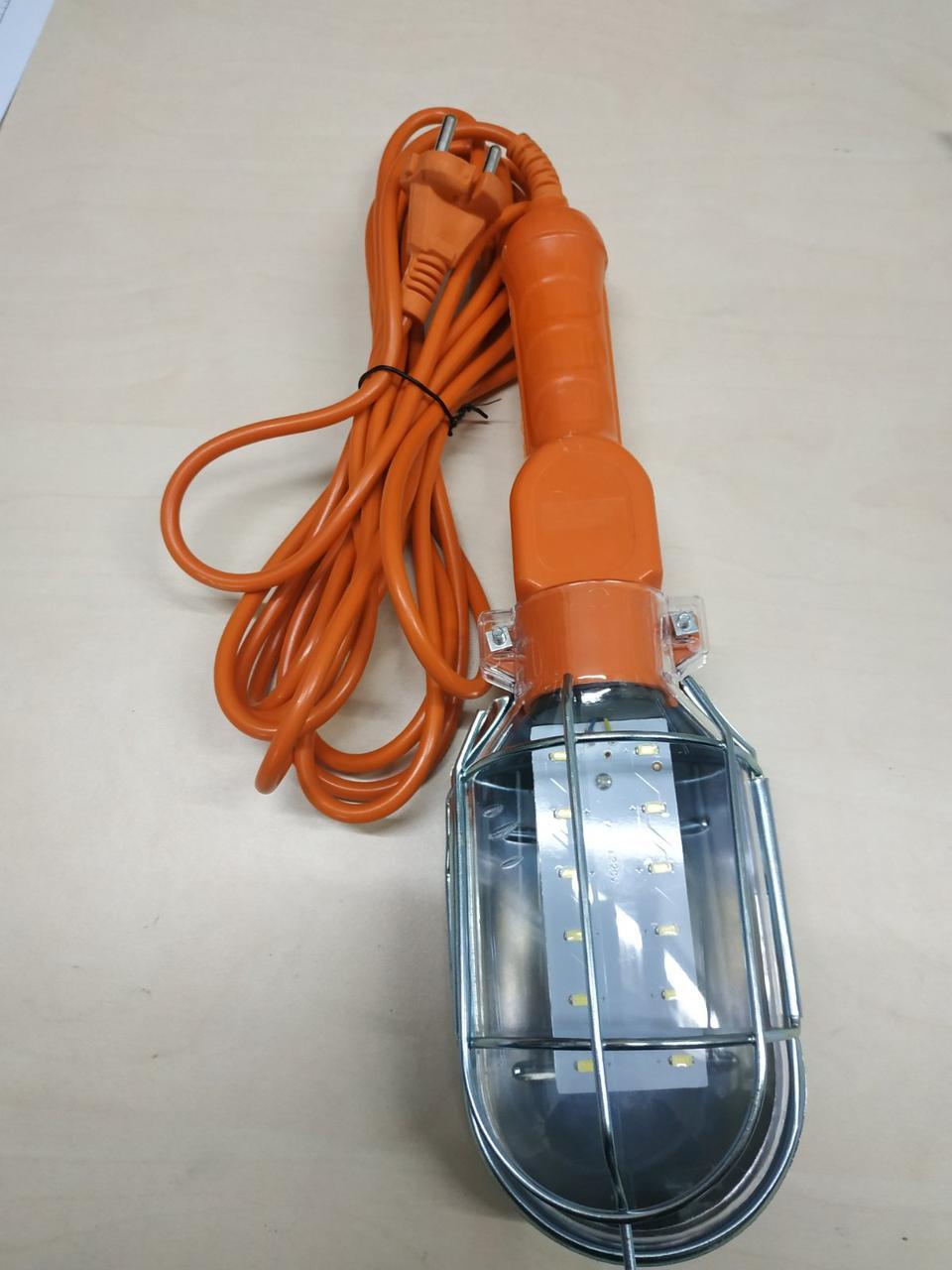 Фонарь  переносной с LED лампой, 220В, 5м.,