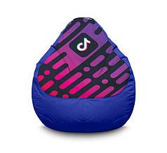 "Кресло мешок ""Tik Tok. Diagonal background. Blue"" Оксфорд"