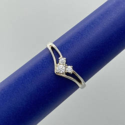 Серебряное кольцо нежность